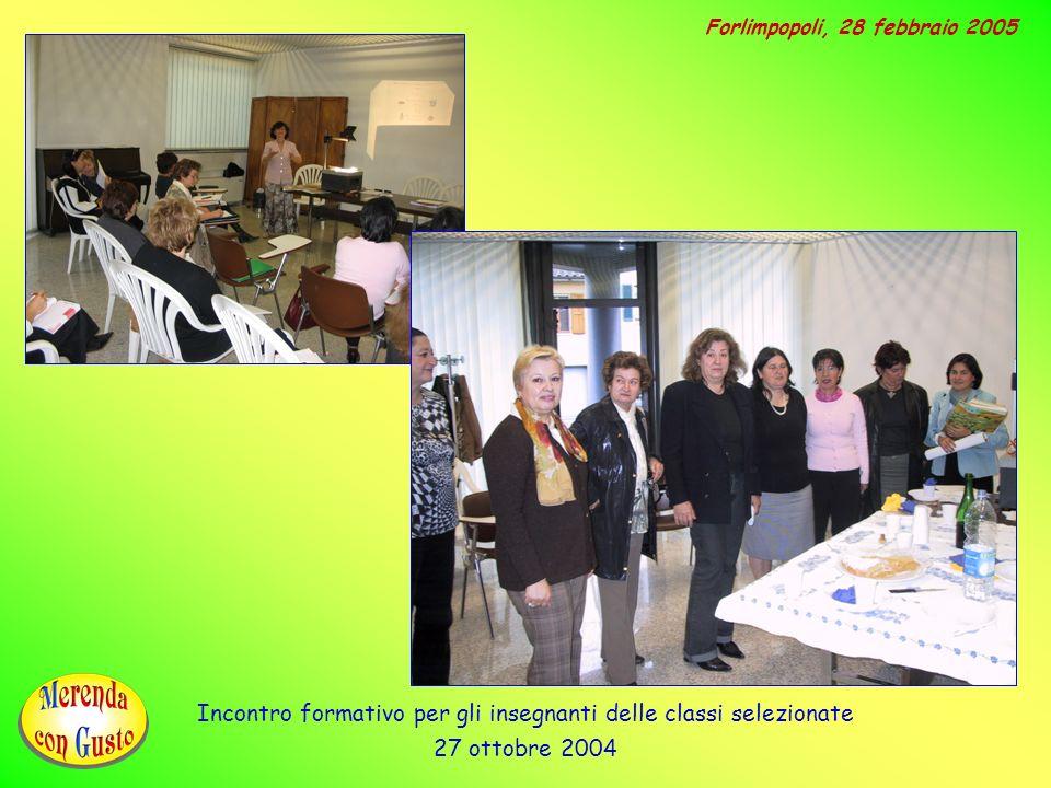 Incontro formativo per gli insegnanti delle classi selezionate