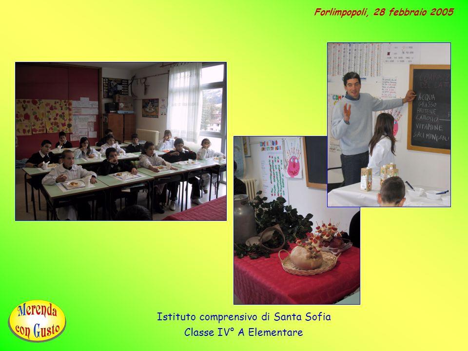 Istituto comprensivo di Santa Sofia Classe IV° A Elementare
