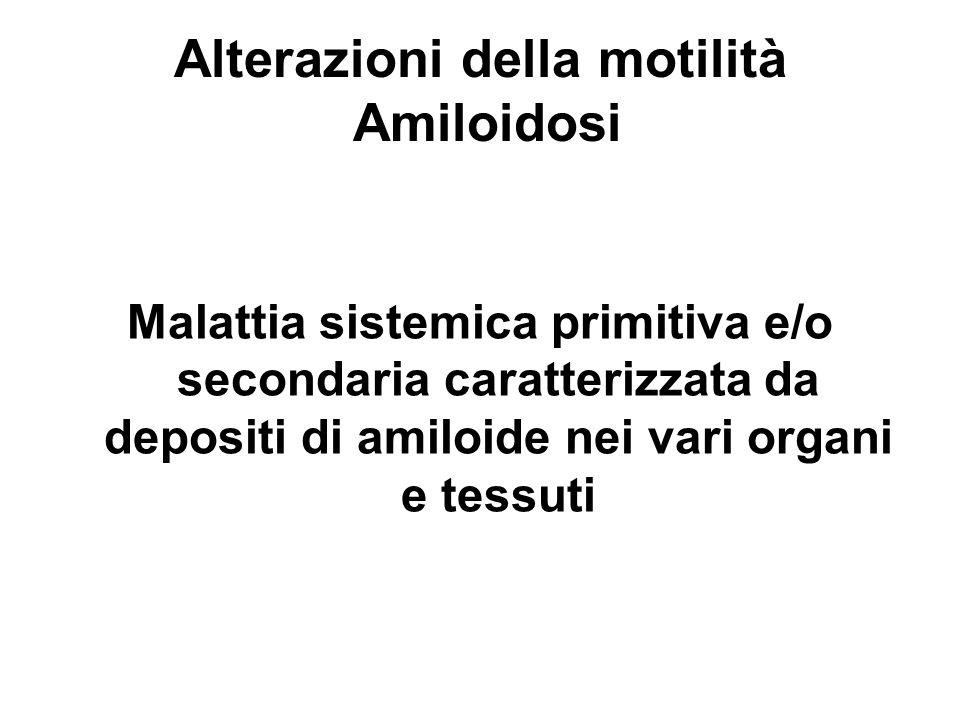 Alterazioni della motilità Amiloidosi