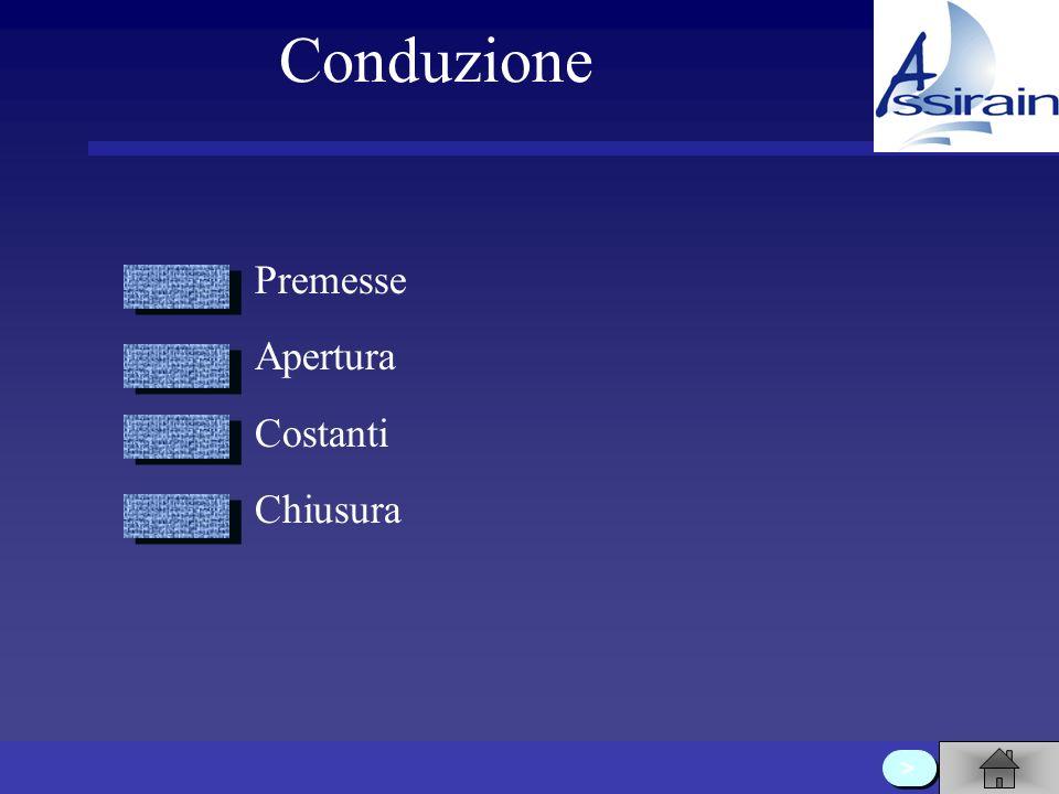 Conduzione Premesse Apertura Costanti Chiusura >