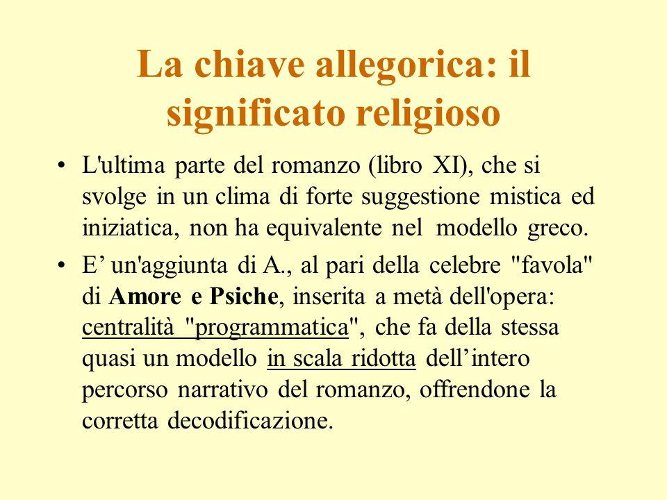 La chiave allegorica: il significato religioso