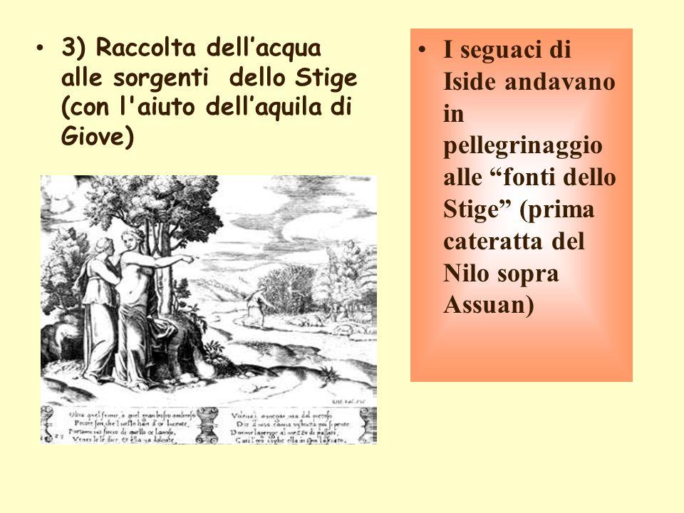 3) Raccolta dell'acqua alle sorgenti dello Stige (con l aiuto dell'aquila di Giove)