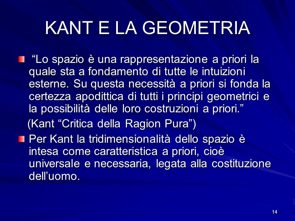 KANT E LA GEOMETRIA