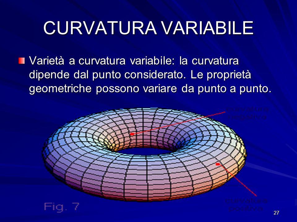 CURVATURA VARIABILE