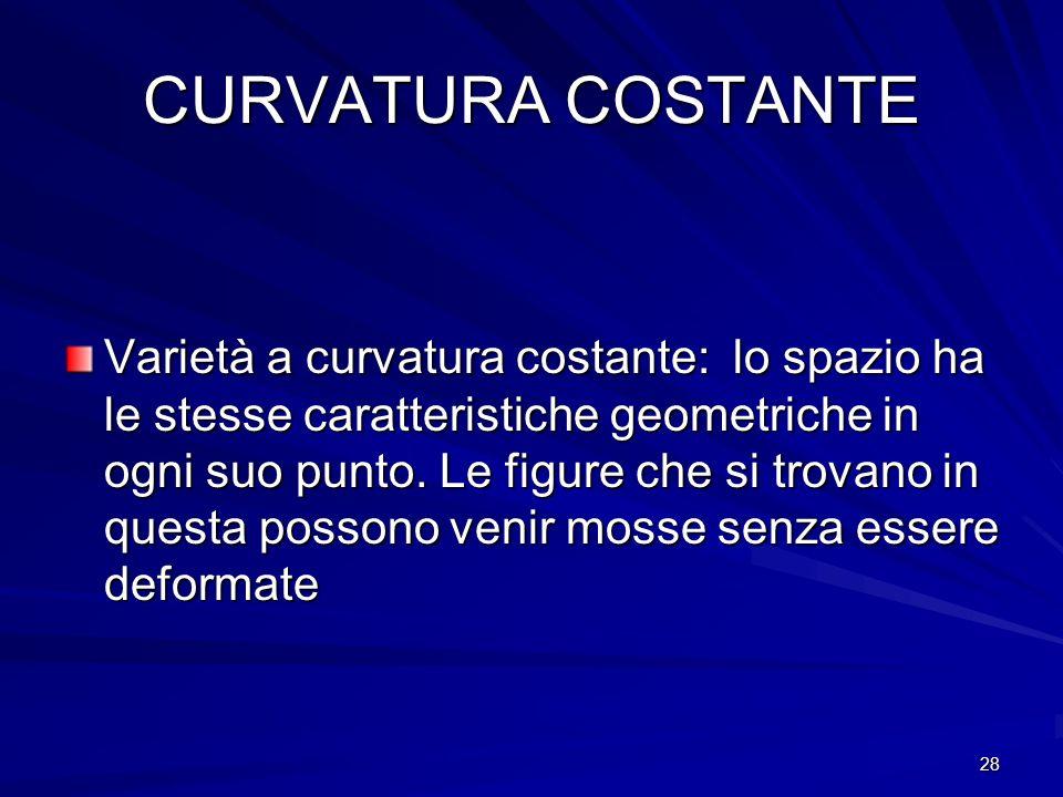 CURVATURA COSTANTE