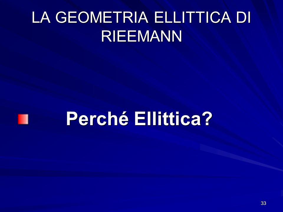 LA GEOMETRIA ELLITTICA DI RIEEMANN