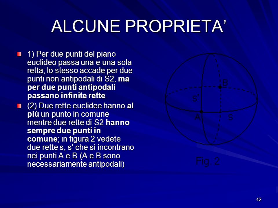 ALCUNE PROPRIETA'