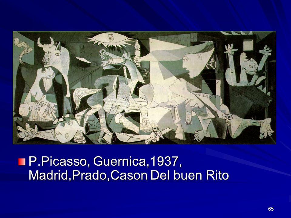 P.Picasso, Guernica,1937, Madrid,Prado,Cason Del buen Rito