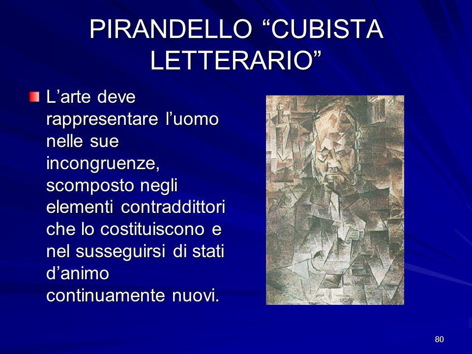 PIRANDELLO CUBISTA LETTERARIO