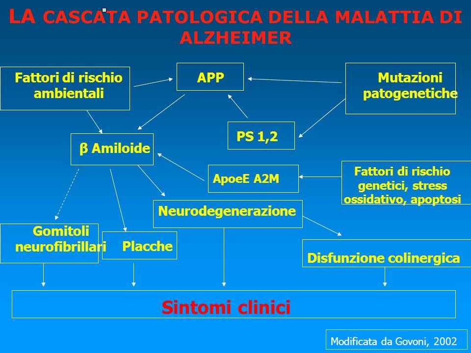 LA CASCATA PATOLOGICA DELLA MALATTIA DI ALZHEIMER