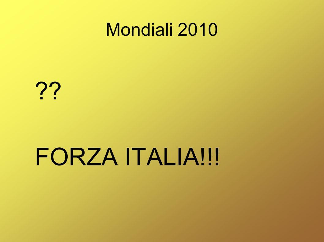 Mondiali 2010 FORZA ITALIA!!!