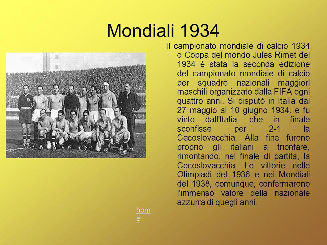Mondiali 1934