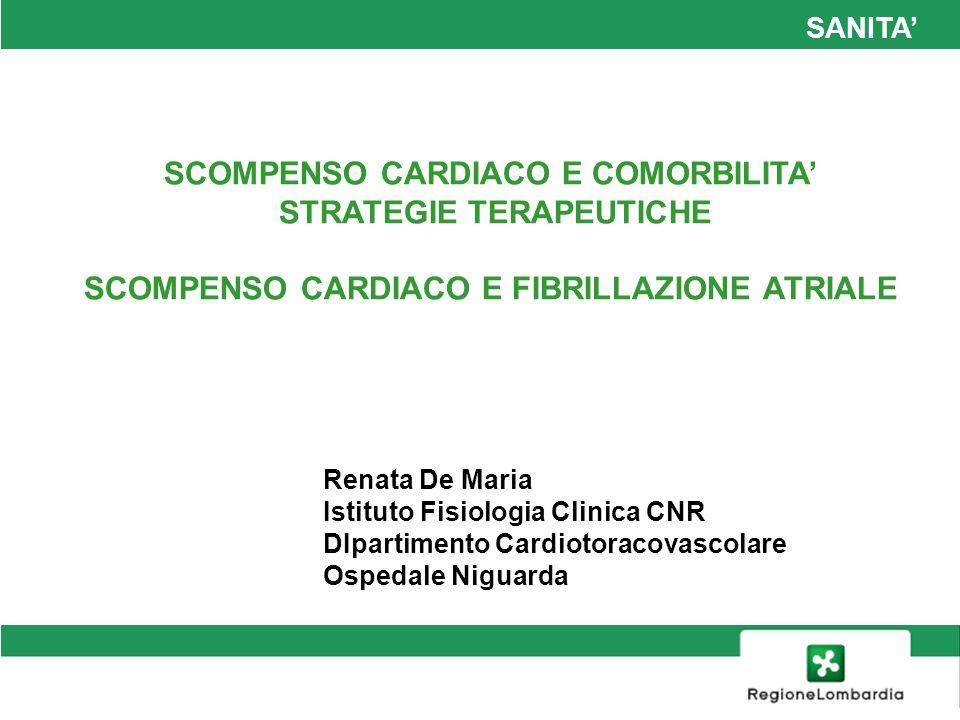 SCOMPENSO CARDIACO E COMORBILITA' STRATEGIE TERAPEUTICHE