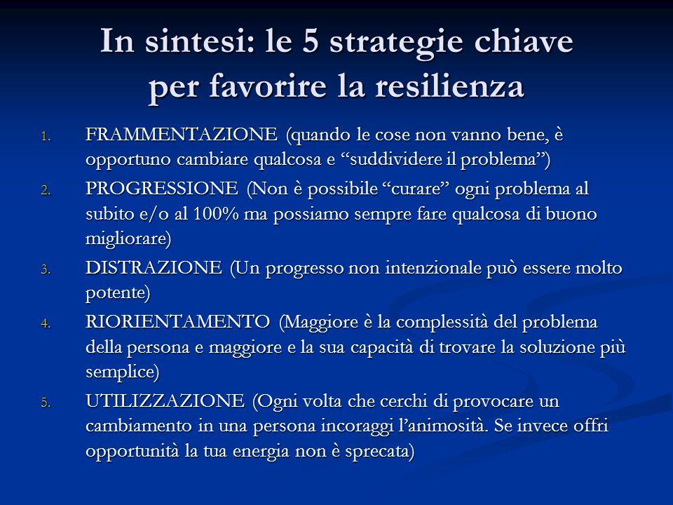 In sintesi: le 5 strategie chiave per favorire la resilienza