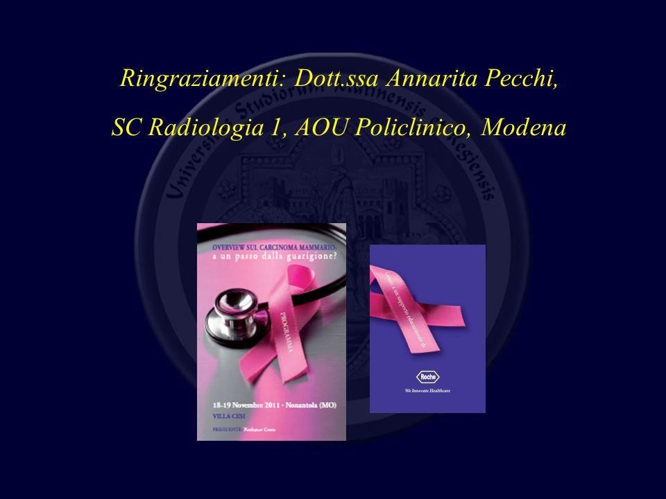 Ringraziamenti: Dott.ssa Annarita Pecchi,