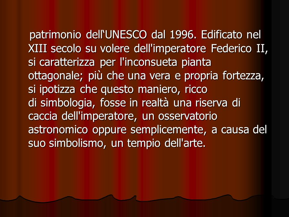 patrimonio dell'UNESCO dal 1996