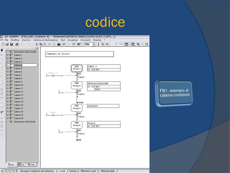 codice FB1, esempio di catena contatore
