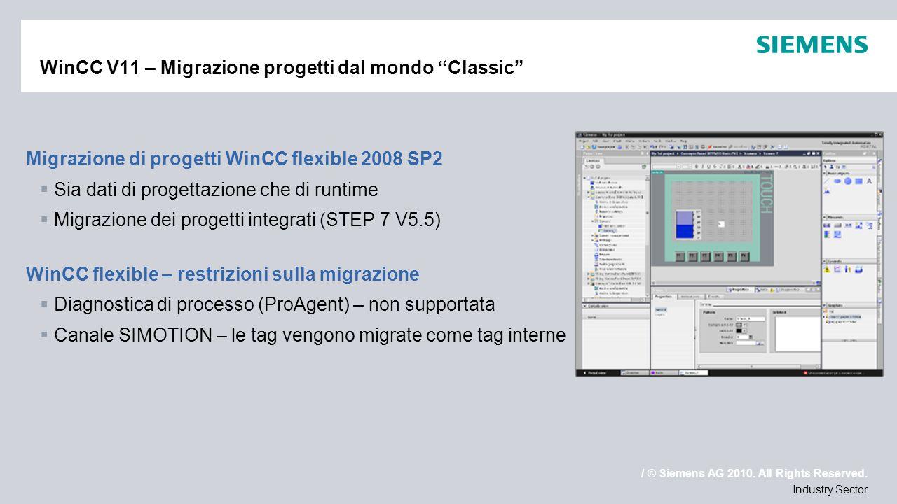 WinCC V11 – Migrazione progetti dal mondo Classic