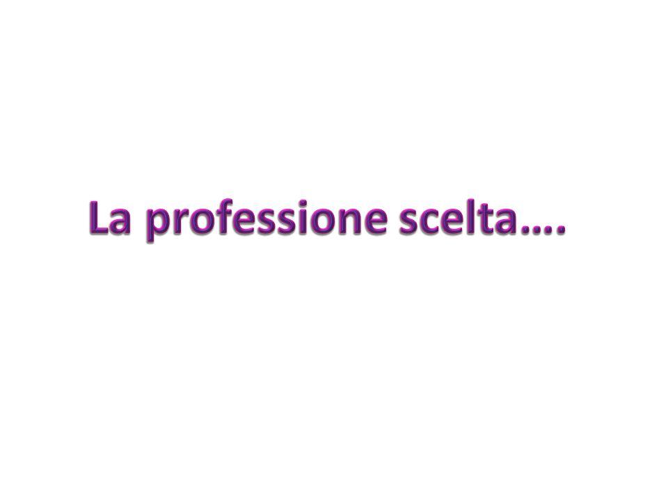 La professione scelta….