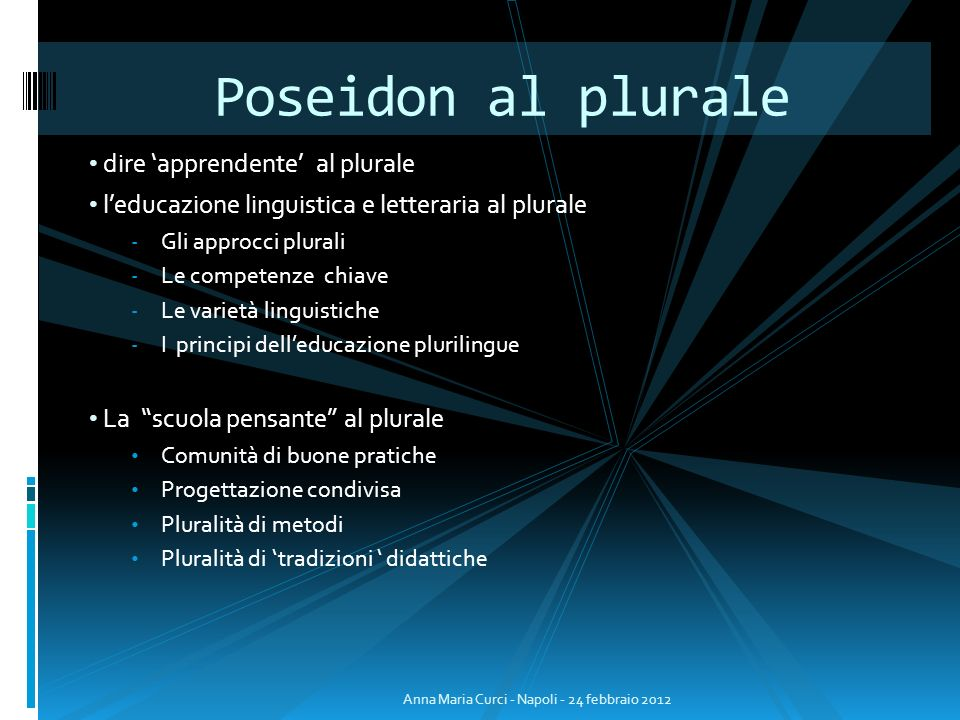 Poseidon al plurale dire 'apprendente' al plurale