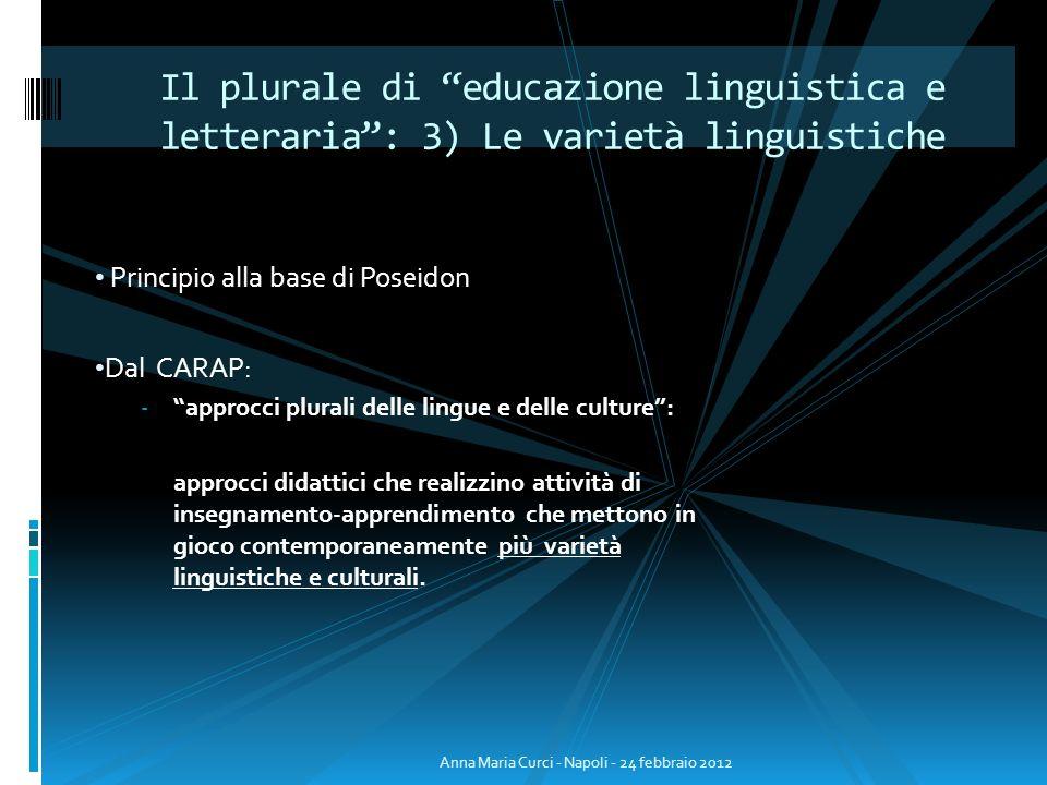 Il plurale di educazione linguistica e letteraria : 3) Le varietà linguistiche