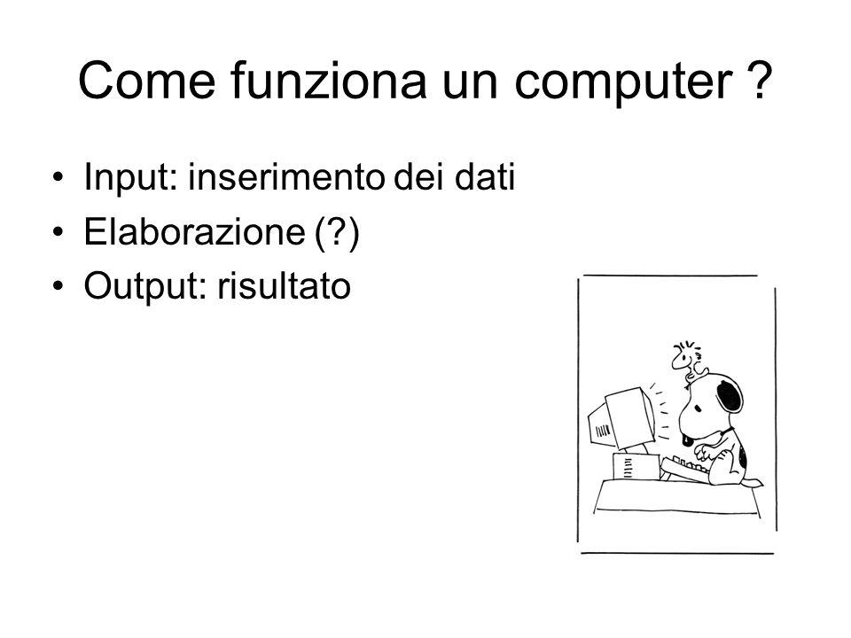 Come funziona un computer