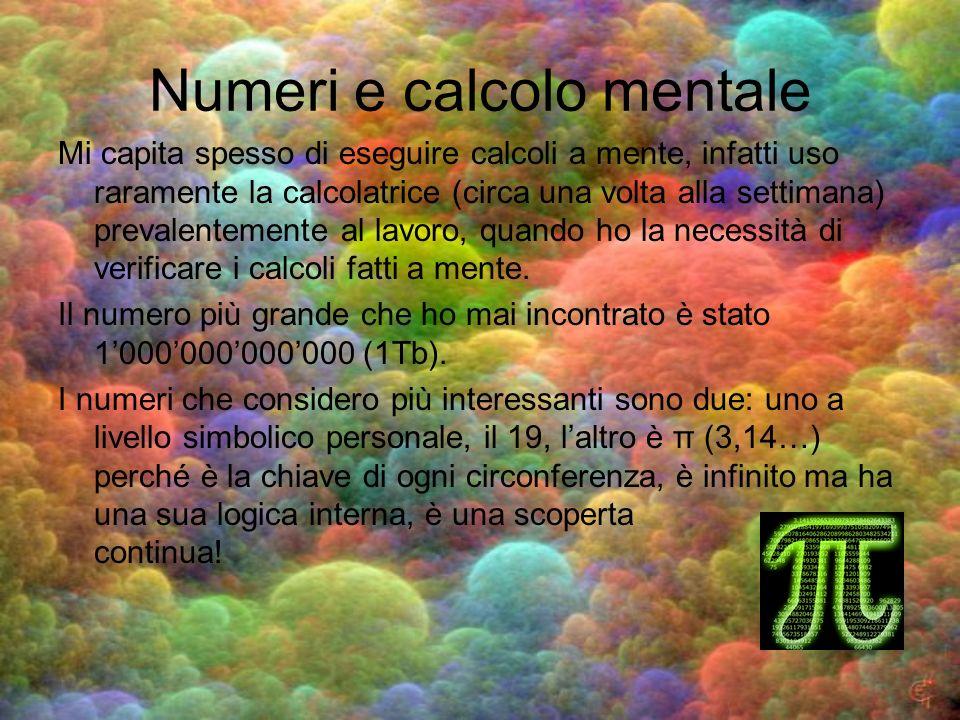 Numeri e calcolo mentale