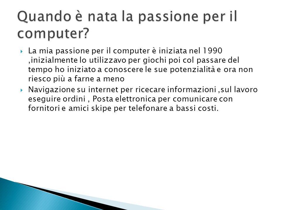 Quando è nata la passione per il computer