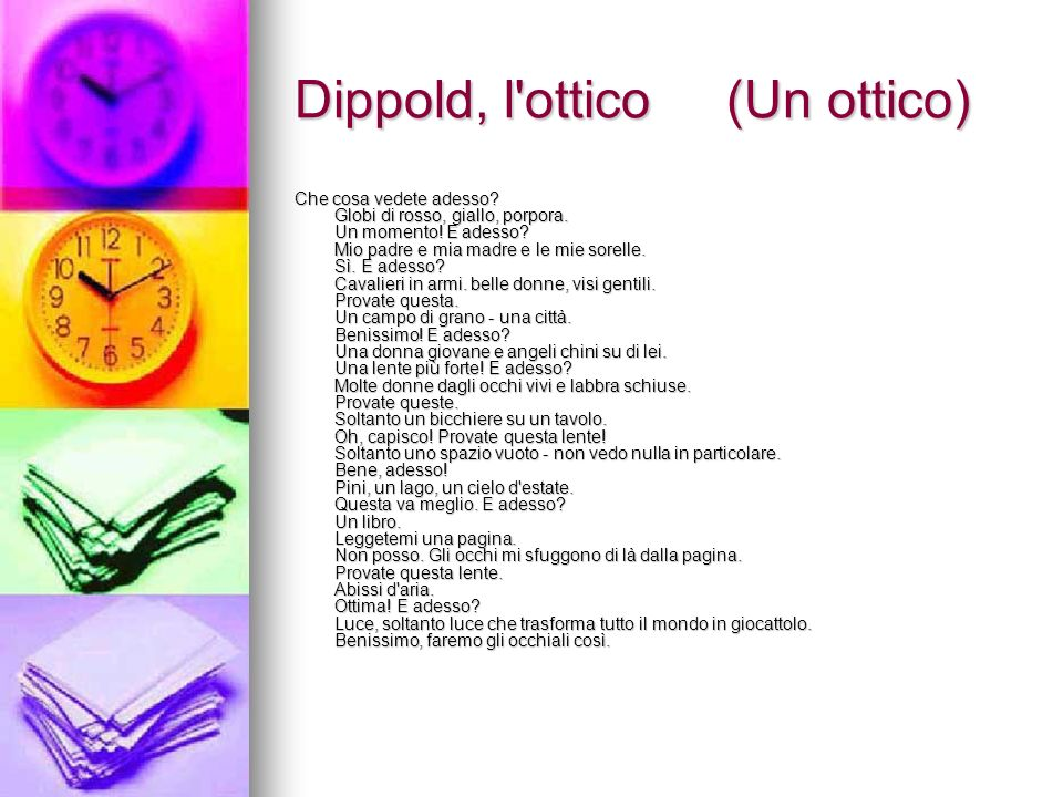 Dippold, l ottico (Un ottico)