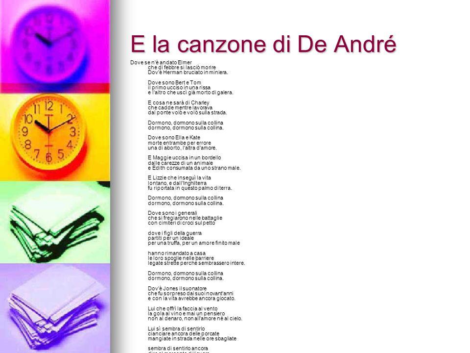E la canzone di De André