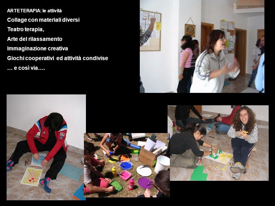 Collage con materiali diversi Teatro terapia, Arte del rilassamento