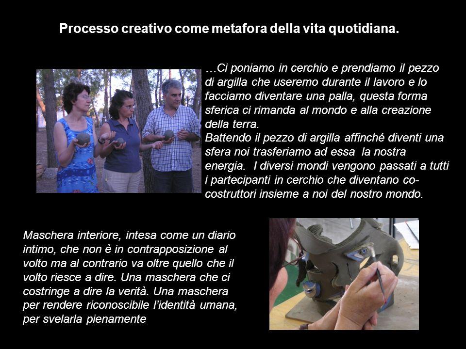 Processo creativo come metafora della vita quotidiana.