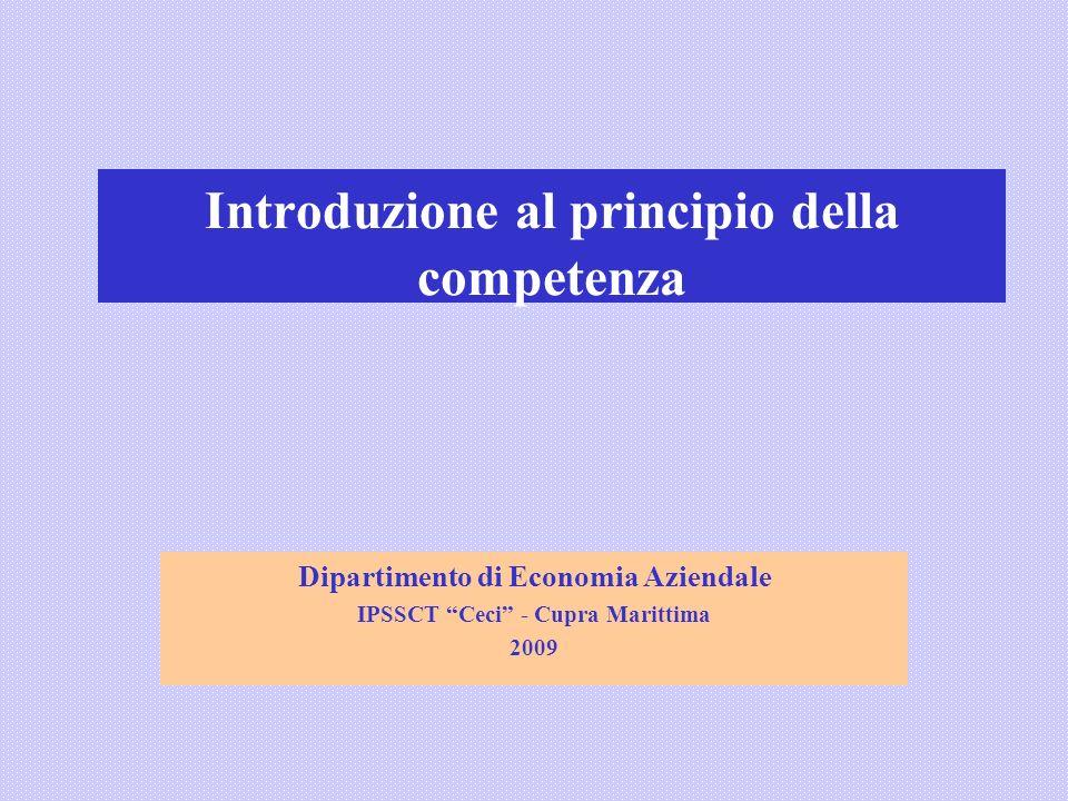 Introduzione al principio della competenza