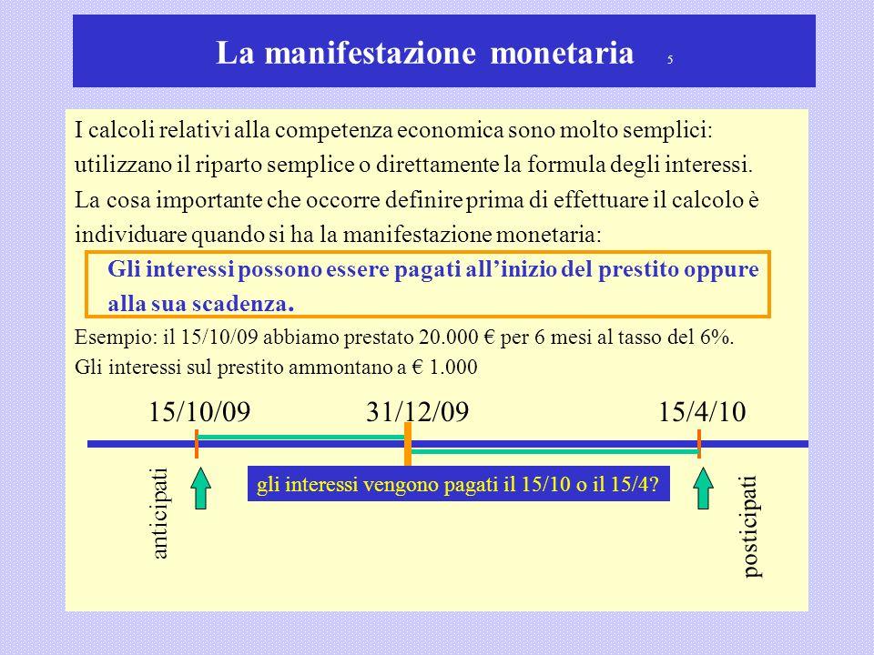 La manifestazione monetaria 5
