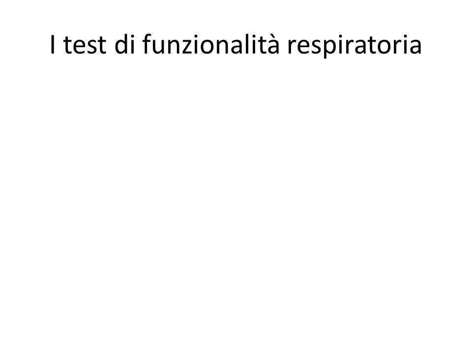 I test di funzionalità respiratoria