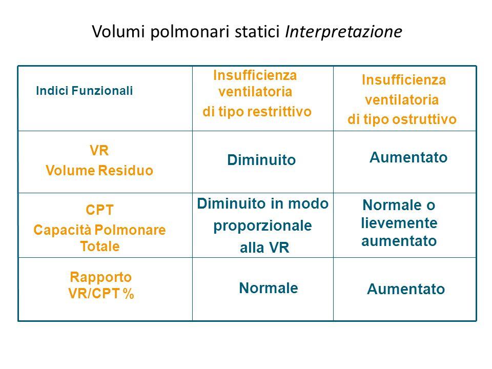 Volumi polmonari statici Interpretazione