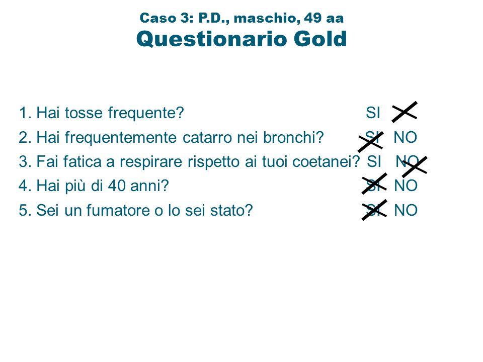 Caso 3: P.D., maschio, 49 aa Questionario Gold