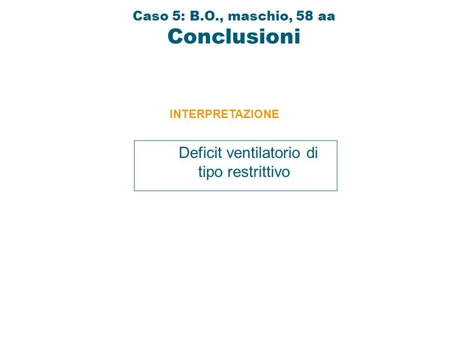 Caso 5: B.O., maschio, 58 aa Conclusioni