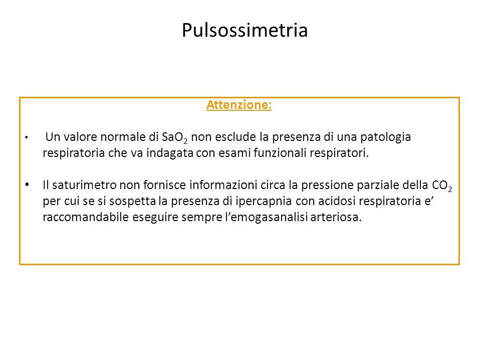 Pulsossimetria Attenzione: