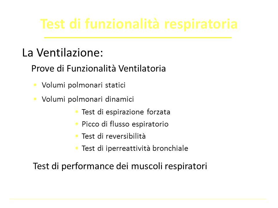 Test di funzionalità respiratoria