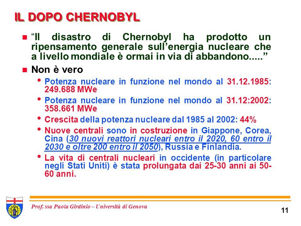 IL DOPO CHERNOBYL