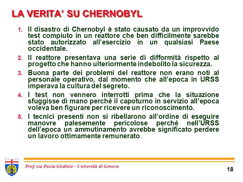 LA VERITA' SU CHERNOBYL