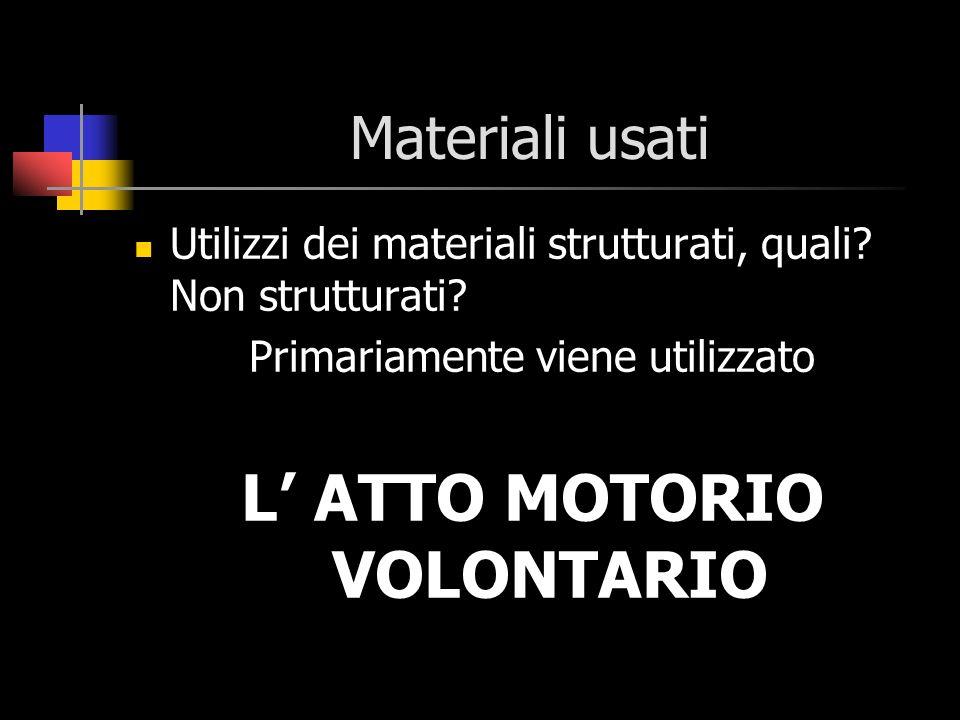 L' ATTO MOTORIO VOLONTARIO