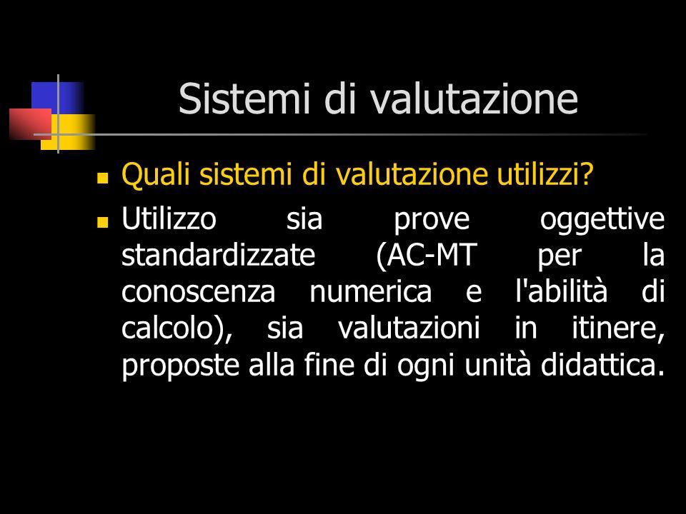Sistemi di valutazione