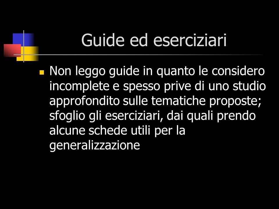 Guide ed eserciziari