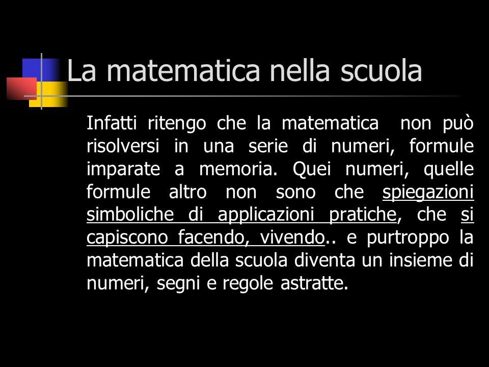 La matematica nella scuola