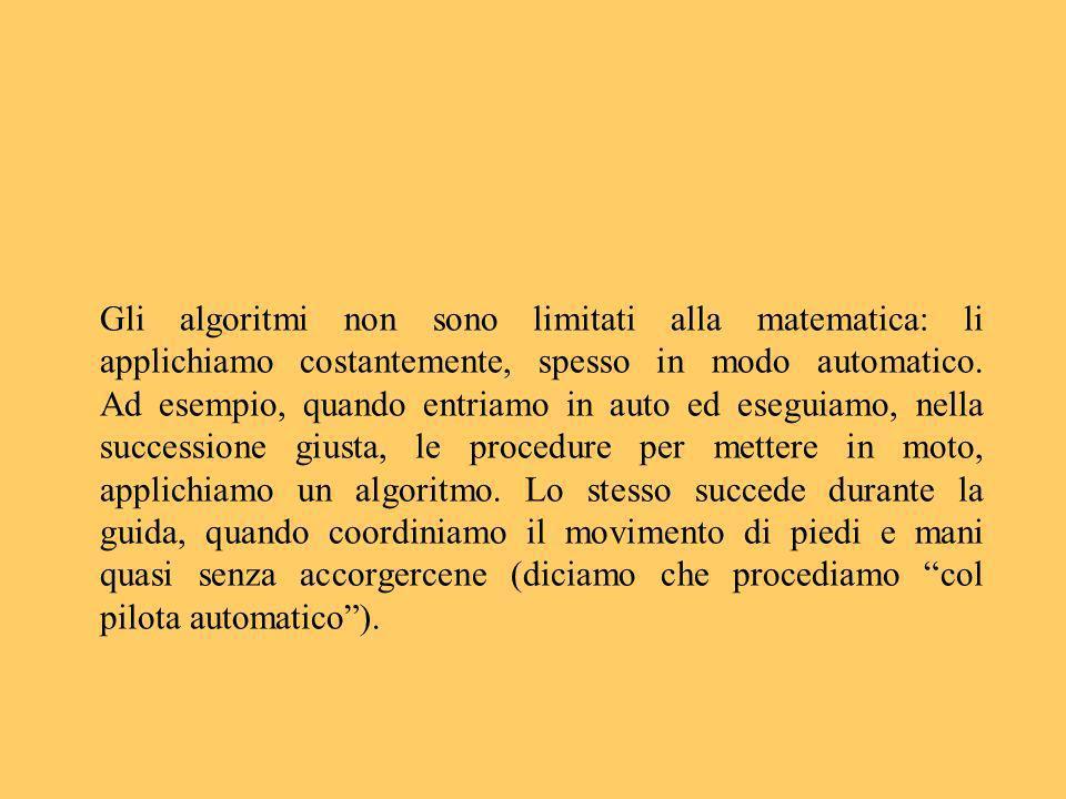 Gli algoritmi non sono limitati alla matematica: li applichiamo costantemente, spesso in modo automatico.