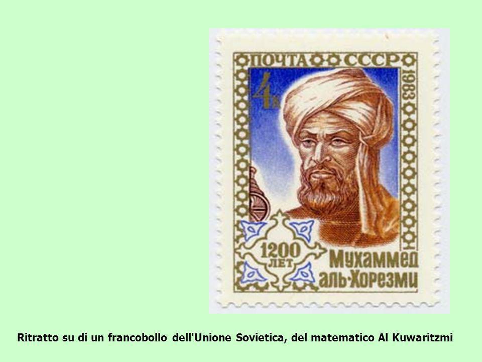 Ritratto su di un francobollo dell Unione Sovietica, del matematico Al Kuwaritzmi