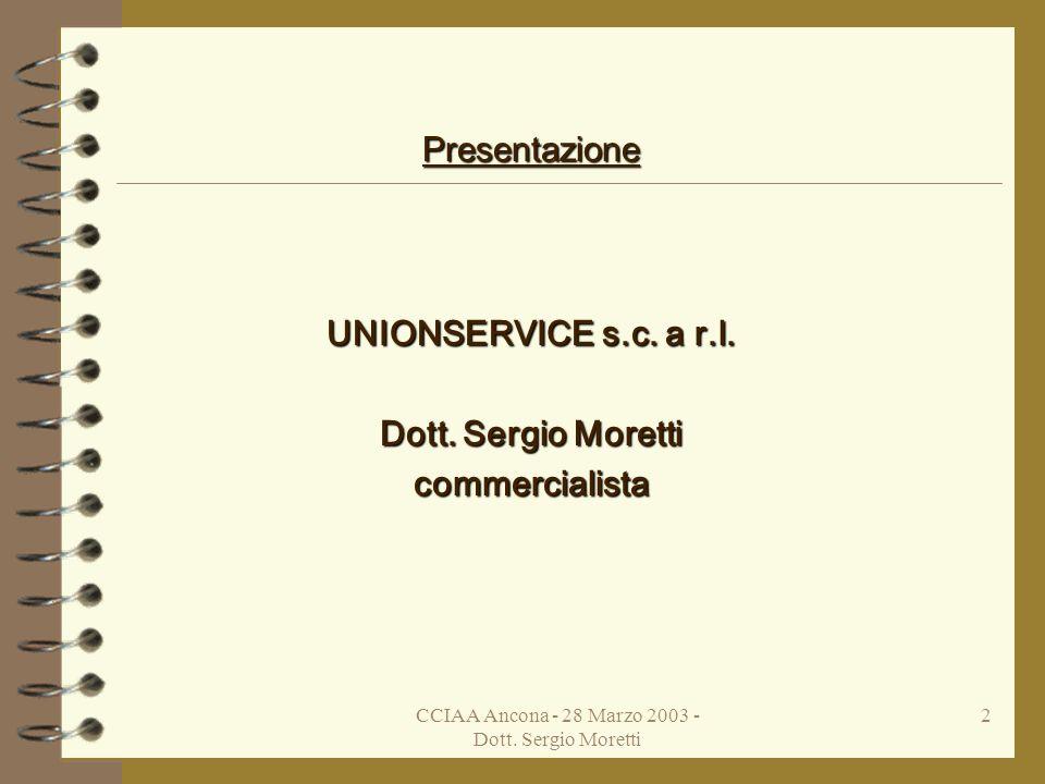 Unionservice s.c. a r.l. - Dott. Sergio Moretti