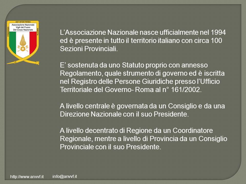 L'Associazione Nazionale nasce ufficialmente nel 1994